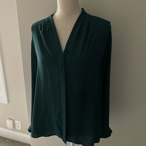 Violet and Claire Dark green blouse